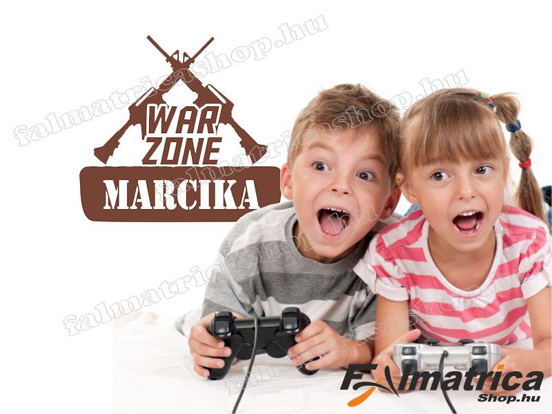 31. Saját neves War Zone falmatrica