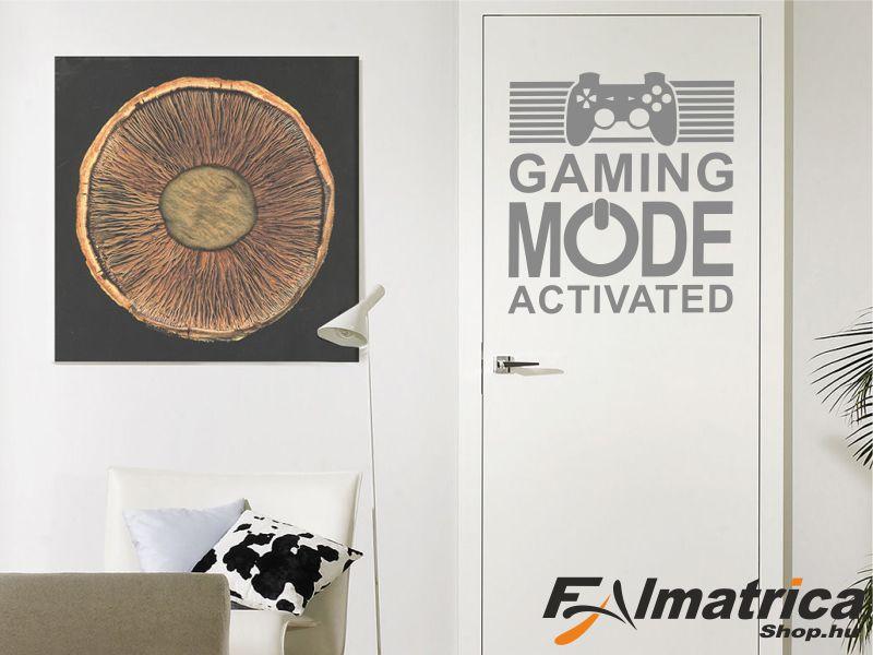 43. Gamer - játék mód falmatrica