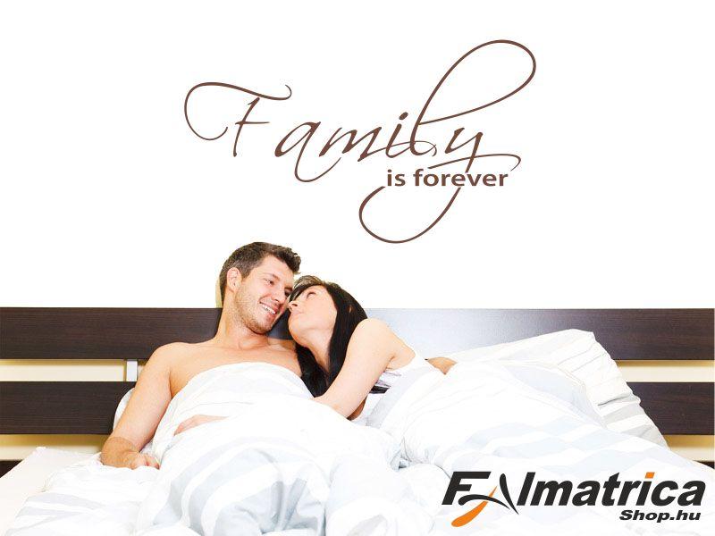 Family forever - családi falmatrica