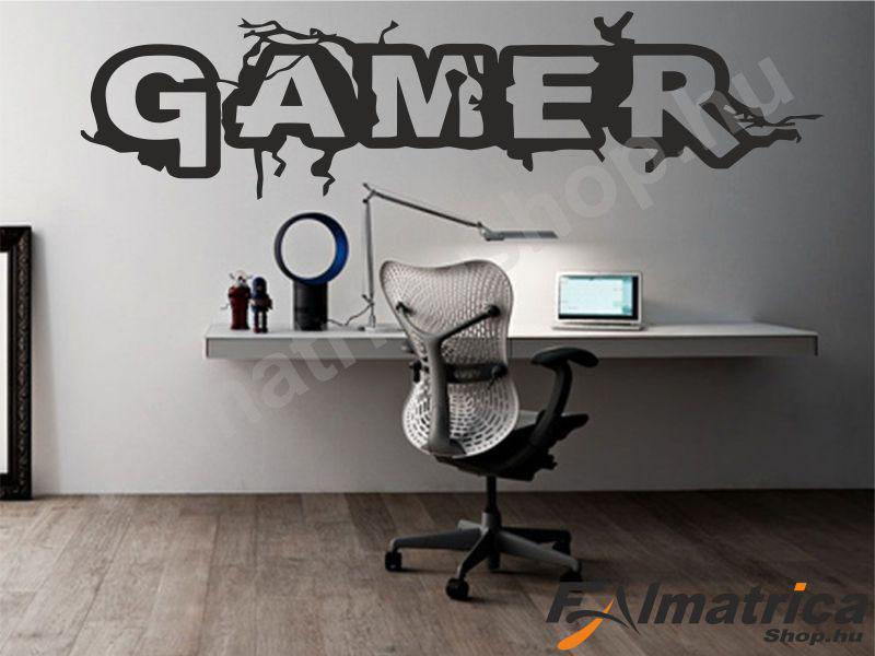 Gamer felirat falmatrica