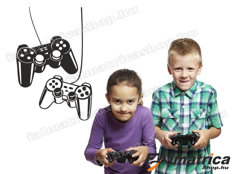 Gamer - PS kontrollerek falmatrica