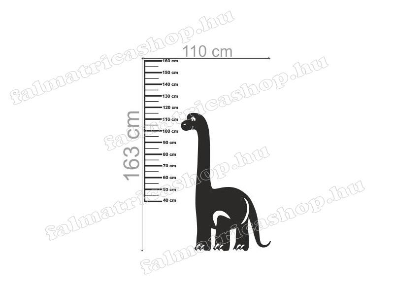 Magasságmérő dinós falmatrica