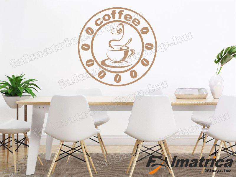 Kávés falmatrica konyhába