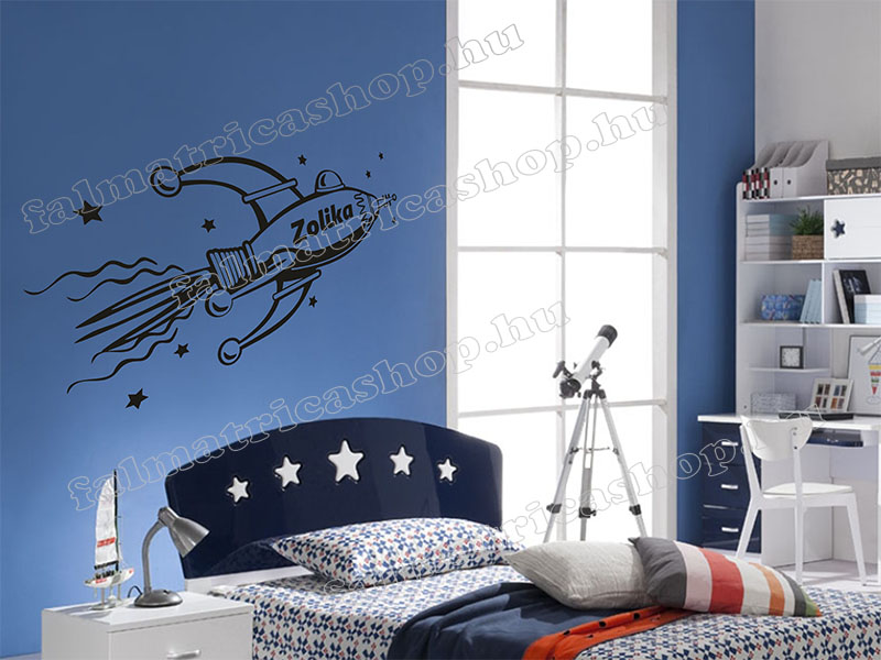Űrhajós neves falmatrica