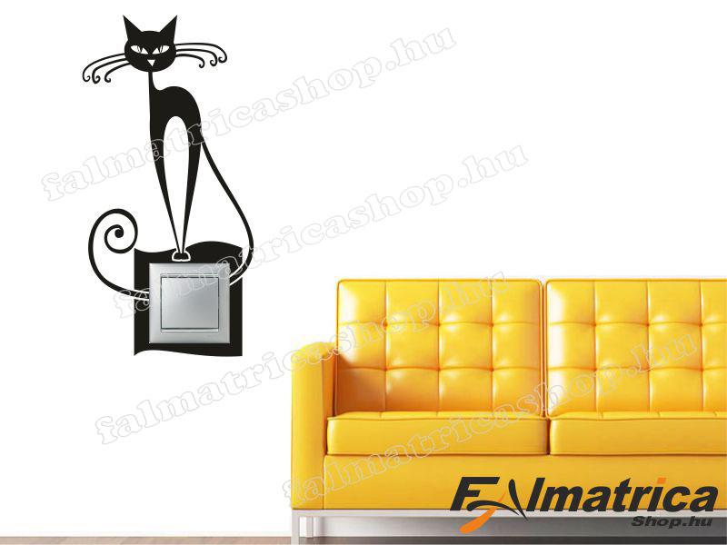 18. Macskás villanykapcsoló matrica