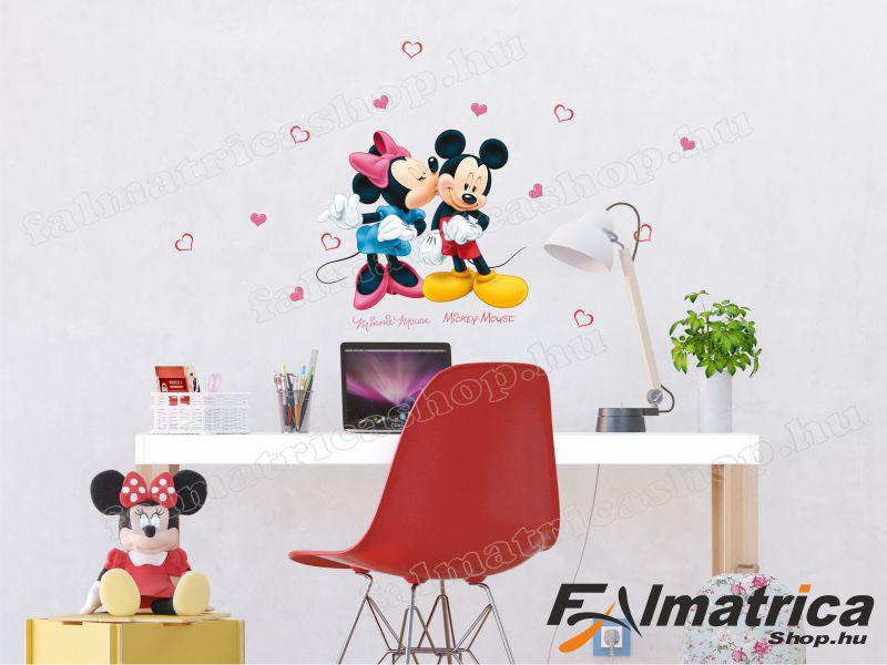 Minnie & Mickey egér falmatrica szett