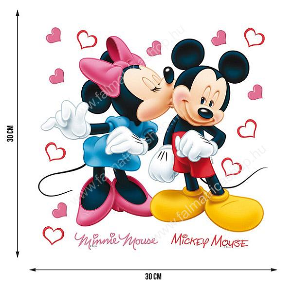 120. Minnie & Mickey egér falmatrica szett