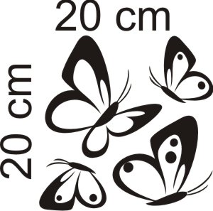 15. Pillangó szett bútor matrica