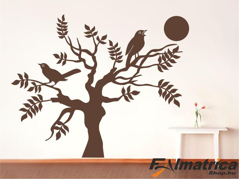 71. Madárkák a fán falmatrica