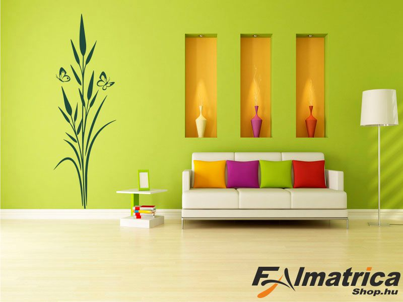 85. Bambusz falmatrica pillangókkal