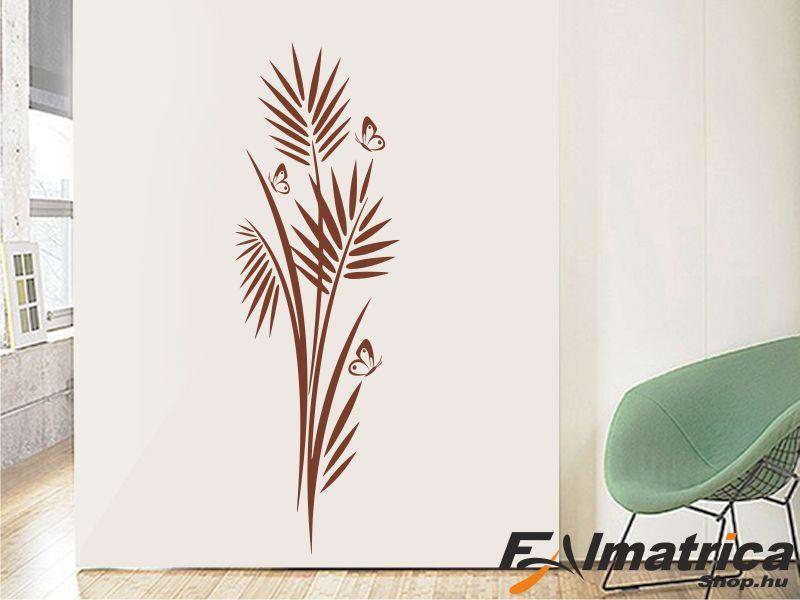 87. Bambusz falmatrica pillangókkal