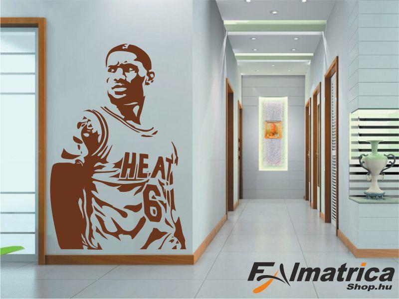 102. LeBron James NBA kosaras - kosárlabda falmatrica