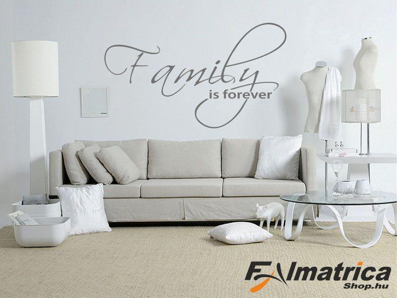 98. Family forever - családi falmatrica
