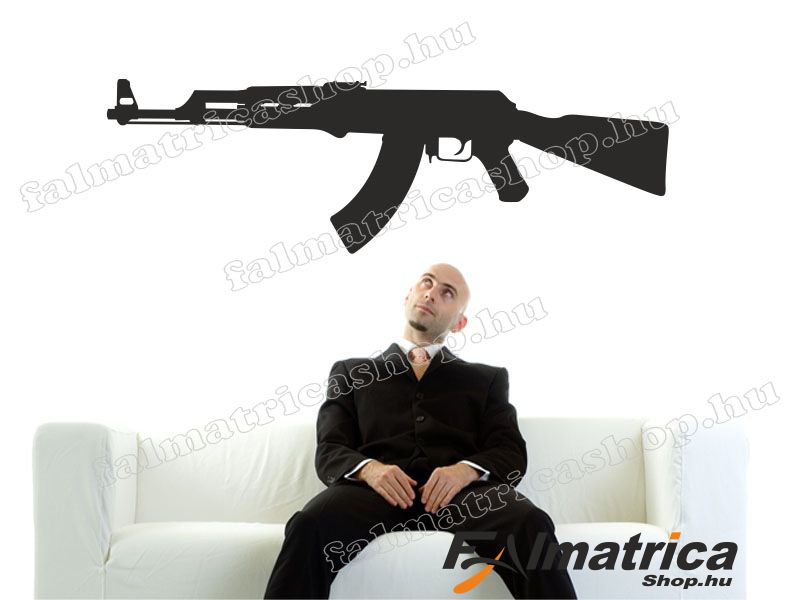 14. Fegyver Ak-47 falmatrica