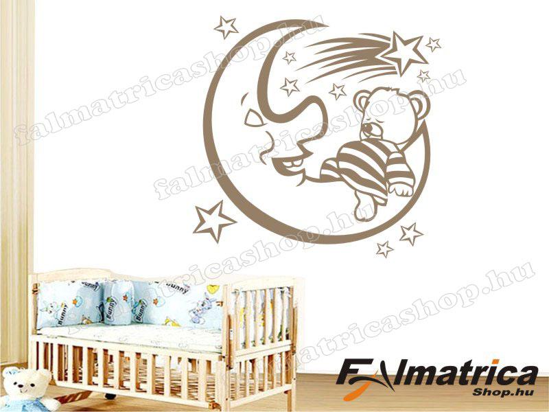 Alvó maci csillagokkal falmatrica