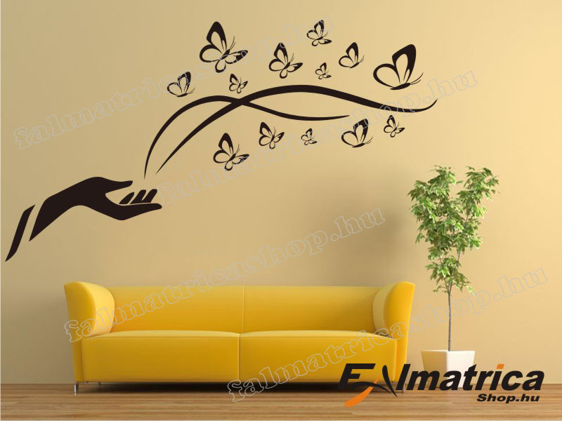 40. Falmatrica pillangókkal