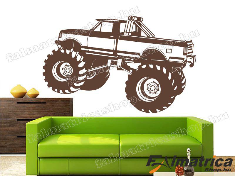 30. Monster truck - terepjáró falmatrica