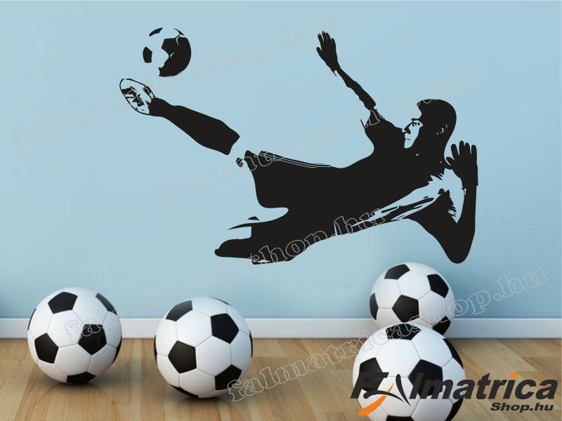 37. Ollózó focis falmatrica