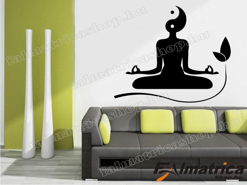 25. Jin Jang meditáció falmatrica