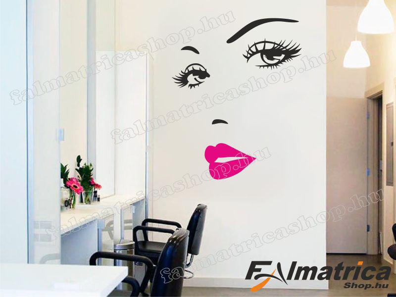 09. Női arc falmatrica szépségszalonba