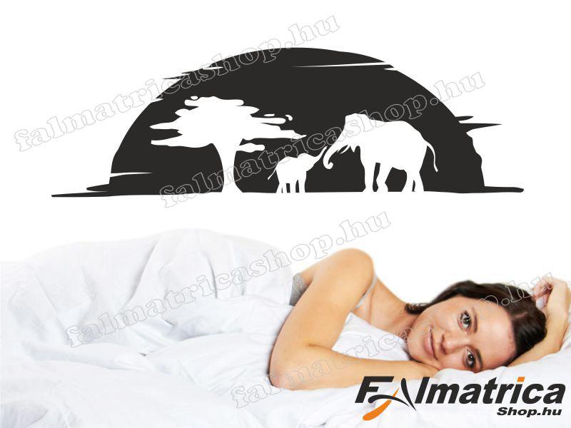 36. Szafari elefántokkal falmatrica