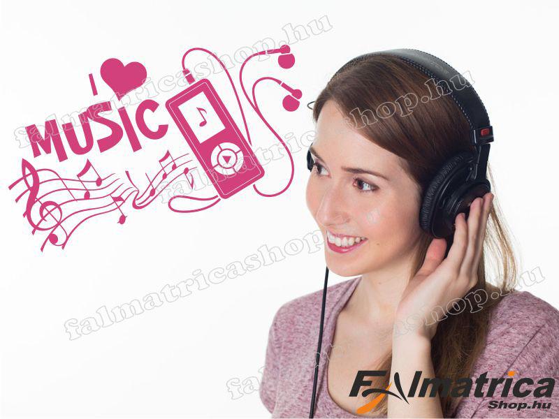 65. MP3 lejátszó falmatrica
