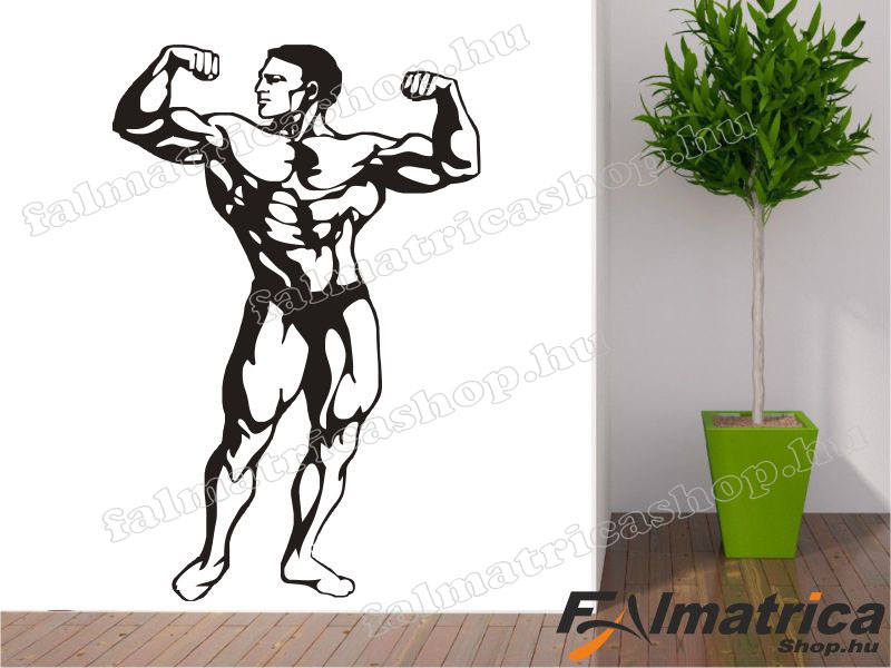 71. Testépítő - bodybuilder falmatrica