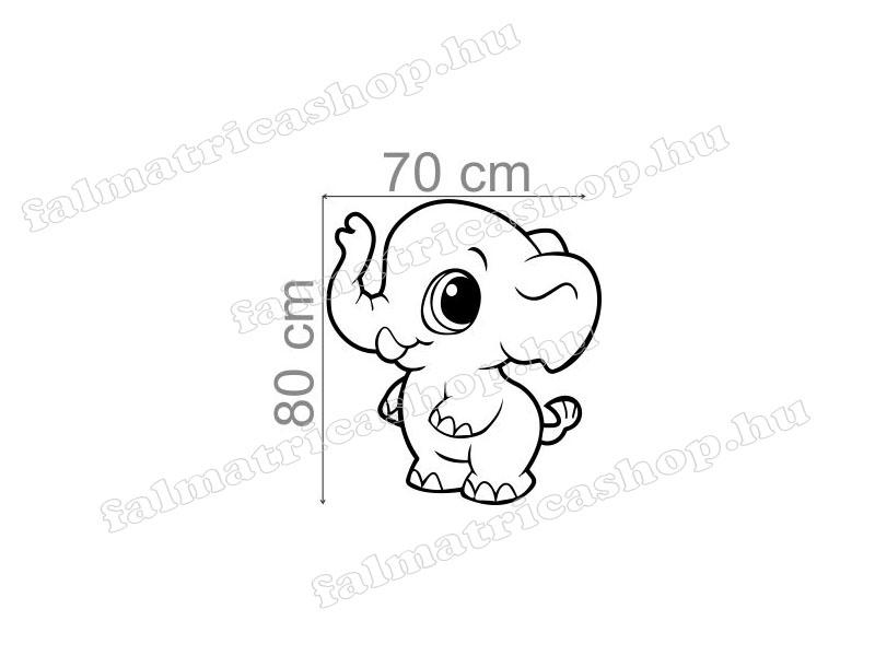 107. Magasságmérő elefánt falmatrica