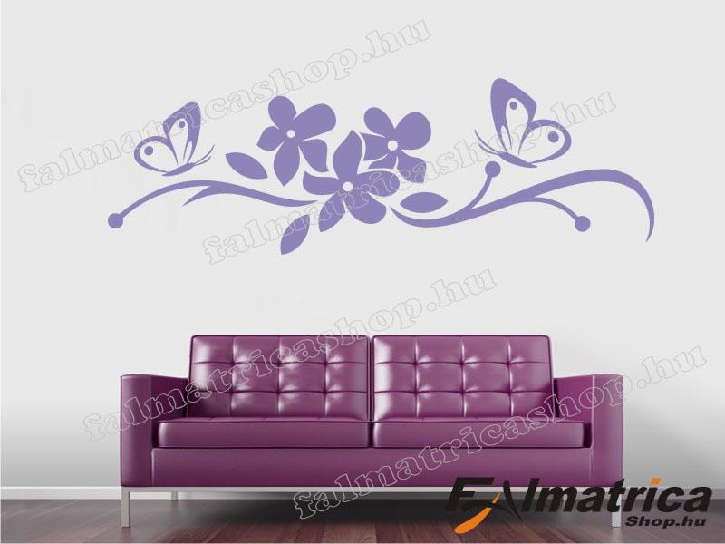 09. Virág lepkékkel <b>falmatrica</b>