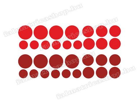 07. Piros körös falmatrica szett