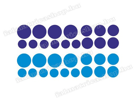 10. Kék körös falmatrica szett