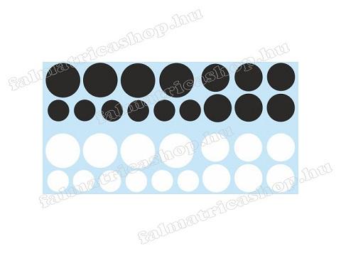 05. Fekete körös falmatrica szett