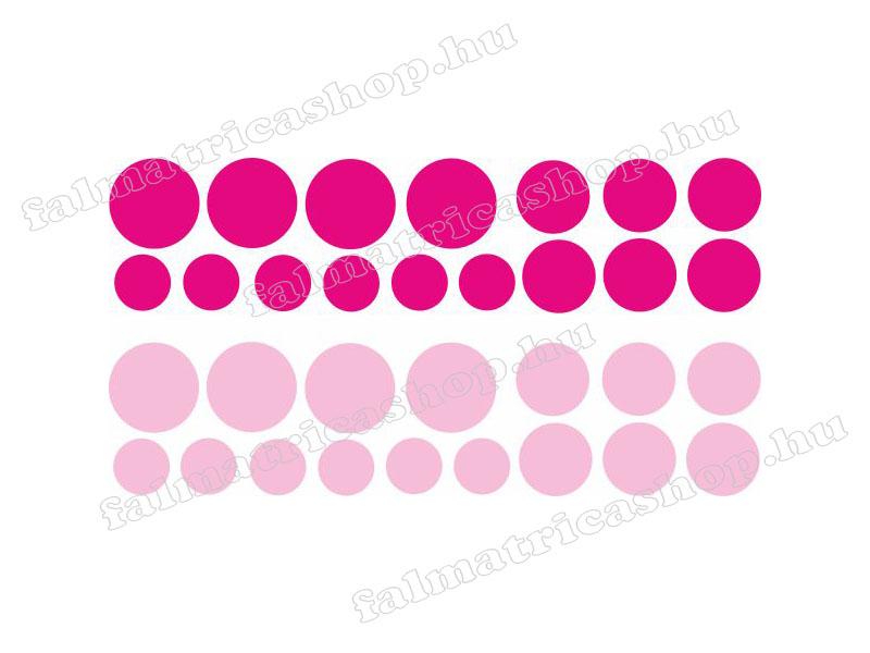 08. Pink körös falmatrica szett