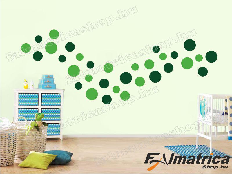 09. Zöld körös falmatrica szett