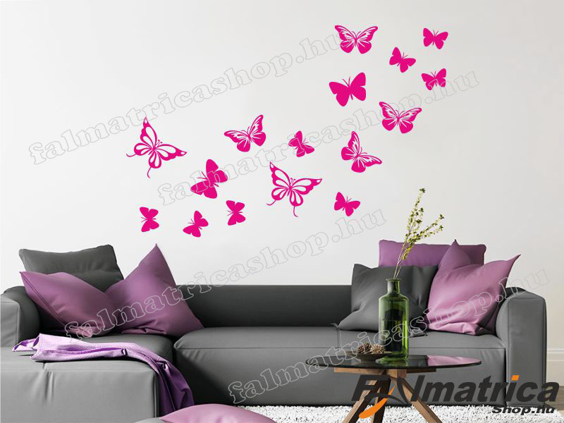 11. Pillangó szett <b>falmatrica</b>