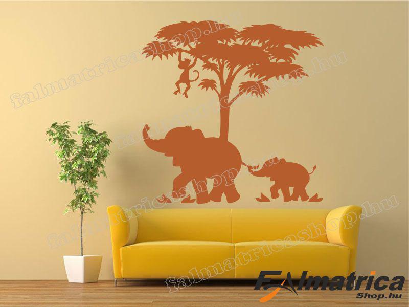 06. Elefántok falmatrica
