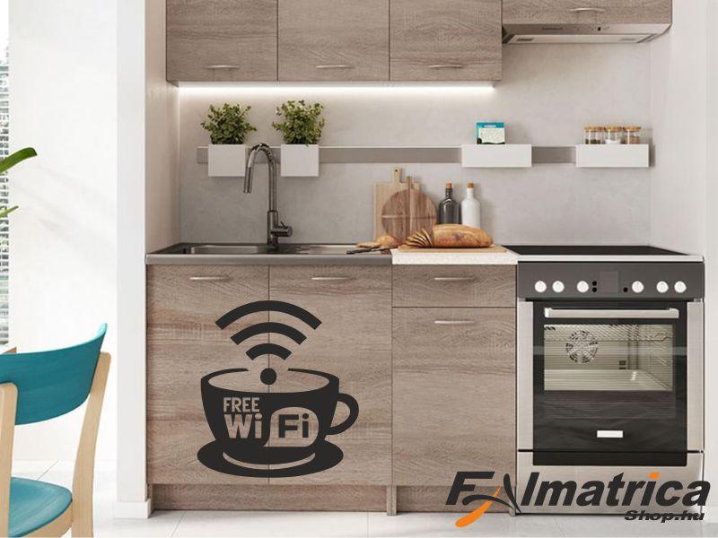 10. Kávés wifi bútor matrica
