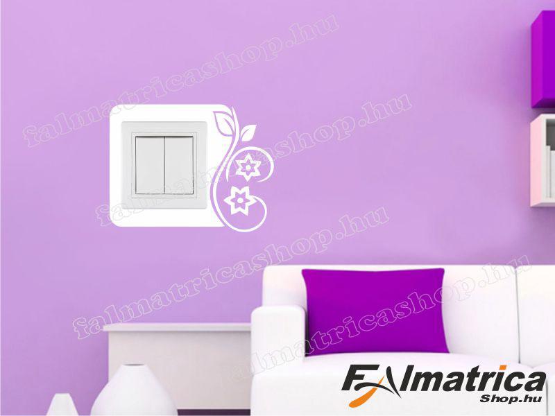 09. Virágos villanykapcsoló matrica