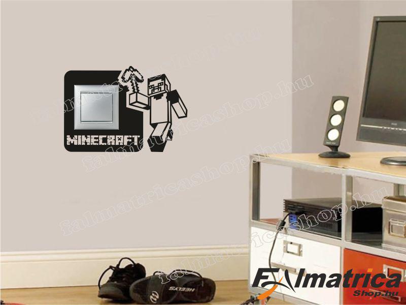 13. Minecraft villanykapcsoló matrica