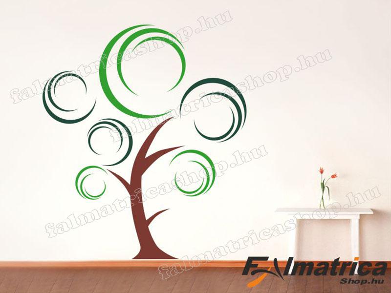 16. Modern színes fa falmatrica
