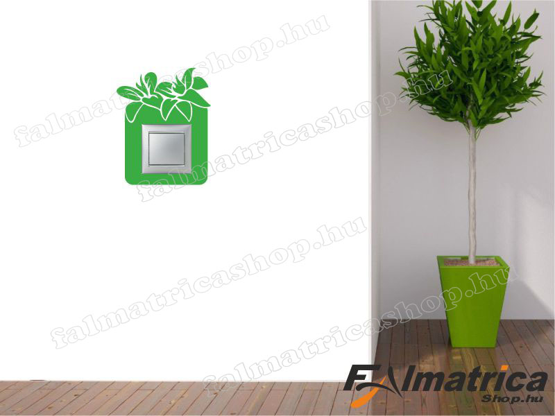 20. Virágos villanykapcsoló matrica