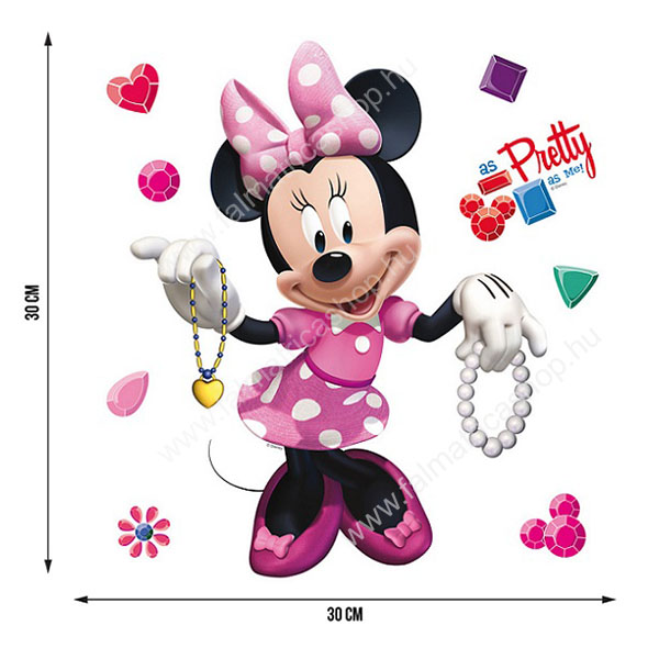 03. Minnie egér falmatrica szett