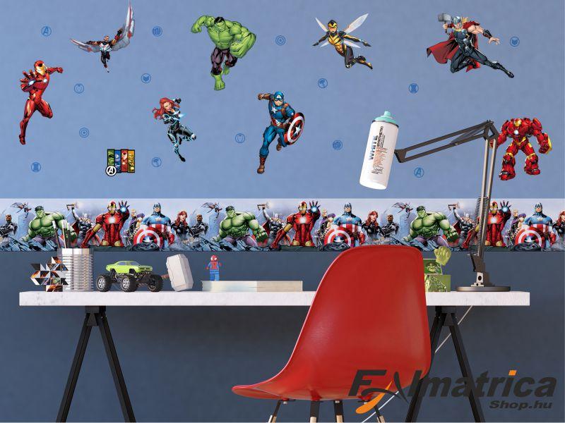 12. Marvel-Szuperhősös falmatrica szett